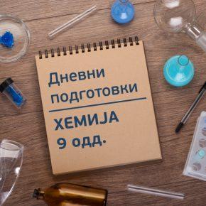 Дневни подготовки по хемија за 9 одд.